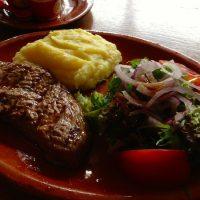 Ribeye steak ans sides
